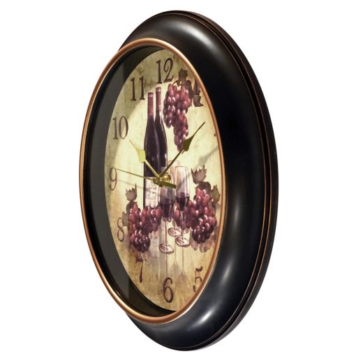 from left side wine pinot wall clock 12 inch