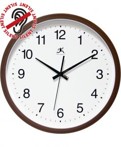 14 inch Walnut Finish; a Walnut Resin Wall Clock