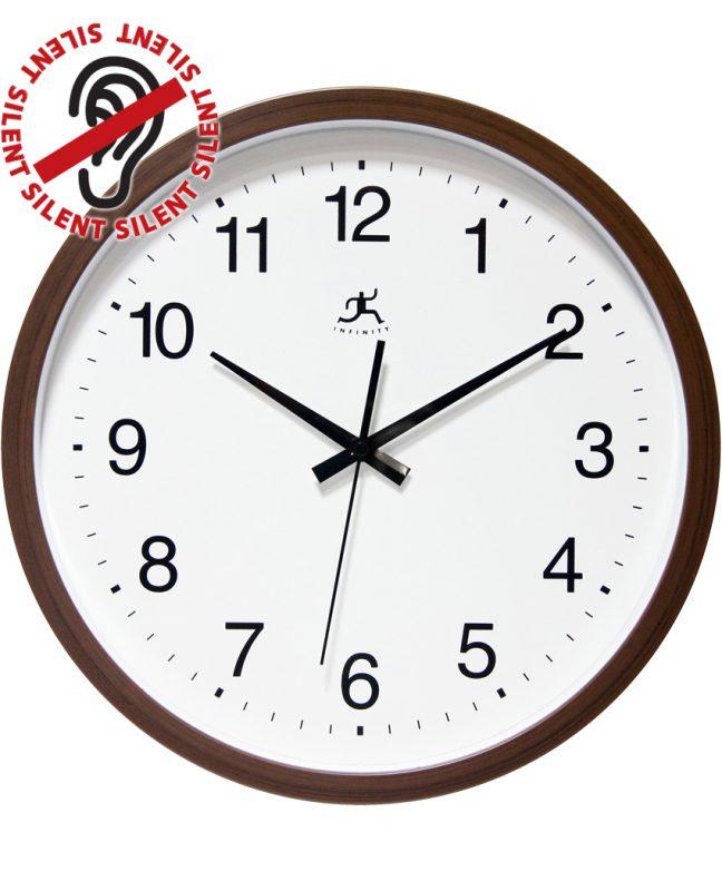14 inch Walnut Finish; a Walnut Resin Wall Clock