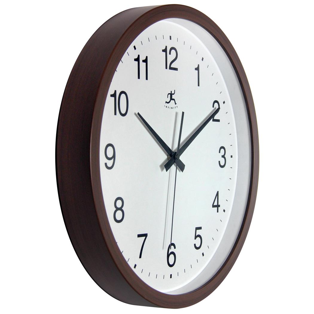 14 Inch Walnut Finish A Walnut Resin Wall Clock Clock