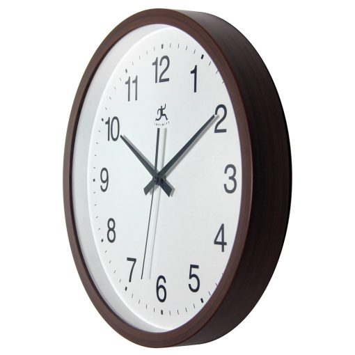 from left side walnut resin wall clock 14 inch