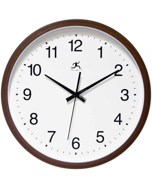 walnut wall clock 14 inch