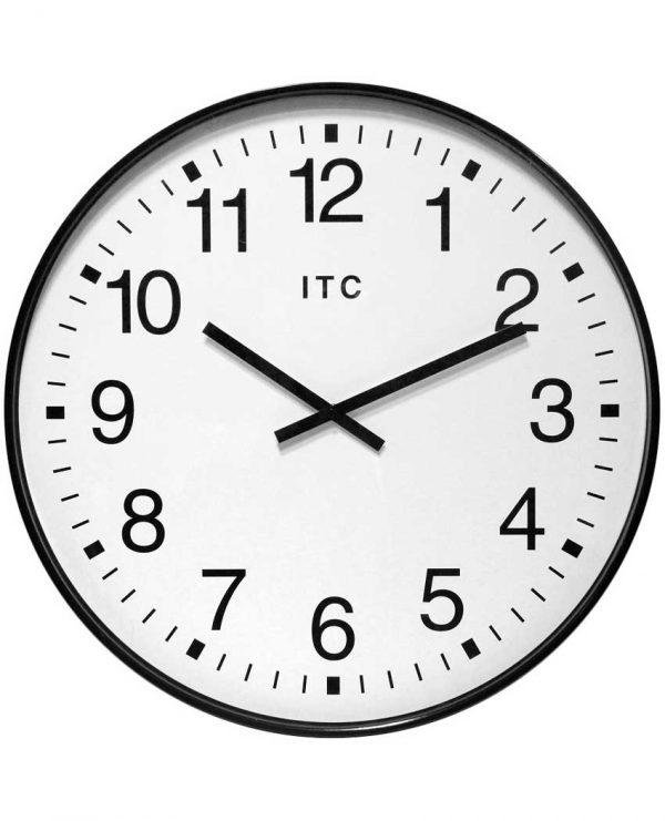 20 inch Clarke Black Resin Wall Clock