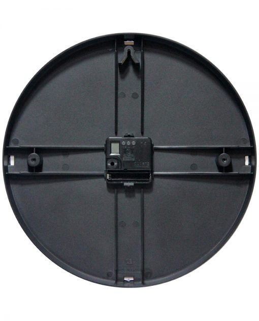carnegie black wall clock 12 inch