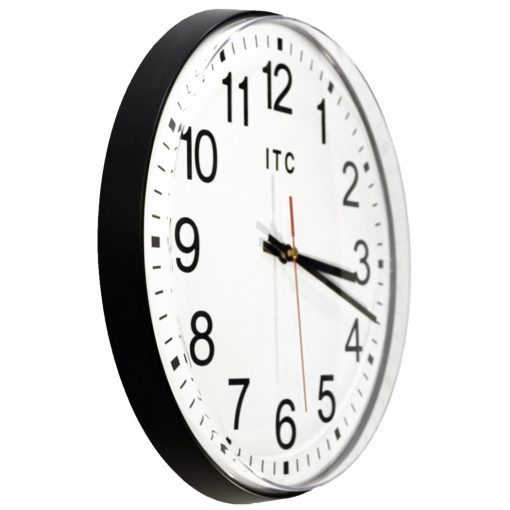 from right side carnegie black wall clock 12 inch