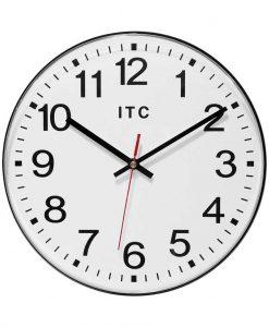 black wall clock 12 inch simple