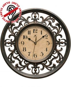12 inch Sofia; a Brown Resin Wall Clock
