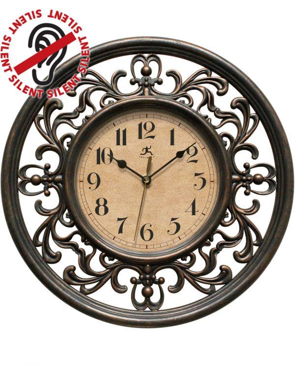 12 inch Sofia; a Brown Resin Wall Clock