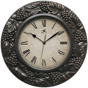13.5 inch Napa Pewter Resin Wall Clock for indoor