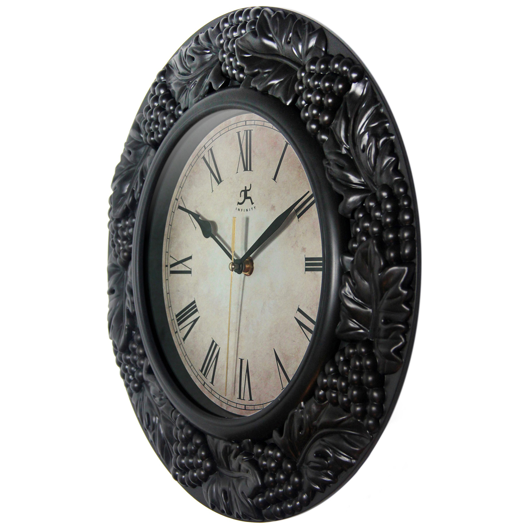 13 5 Inch Napa Pewter Resin Wall Clock For Indoor Clock