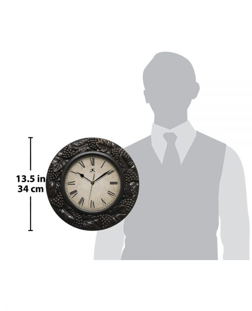 napa pewter wall clock for scale