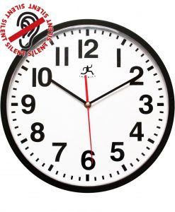 13 inch Pure a Black Resin Wall Clock for indoor