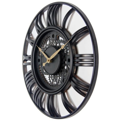 from left side roman gear wall clock 15 inch