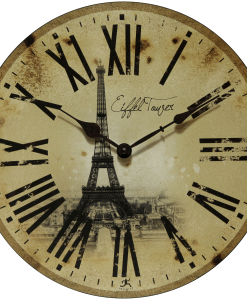 Paris Large Wall Clock Eiffel Tower kitchen
