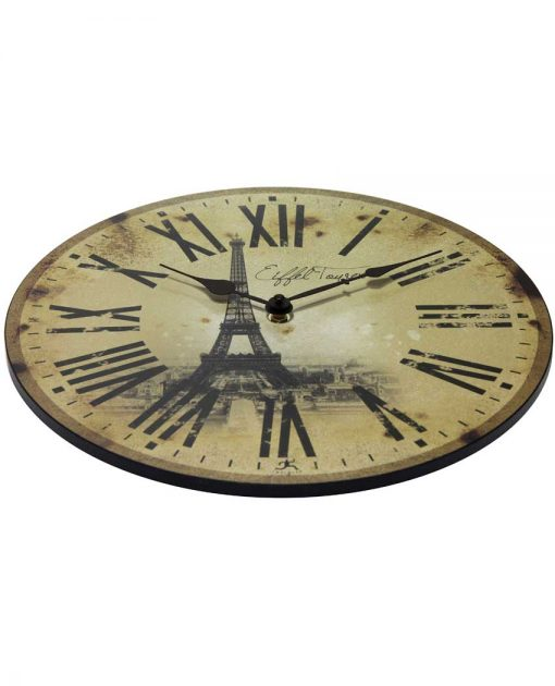 decorative eiffel tower wall clock
