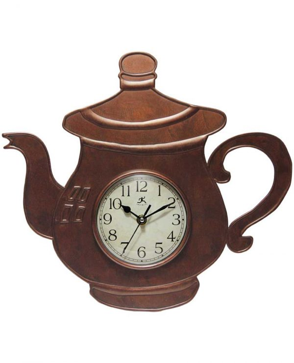 13.75 inch Brew Time; a Bronze Resin Wall Clock