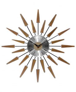 satellite mid century modern wall clock 24 inch