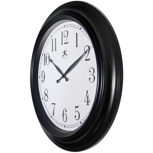 from left side classic black 24 inch wall clock large