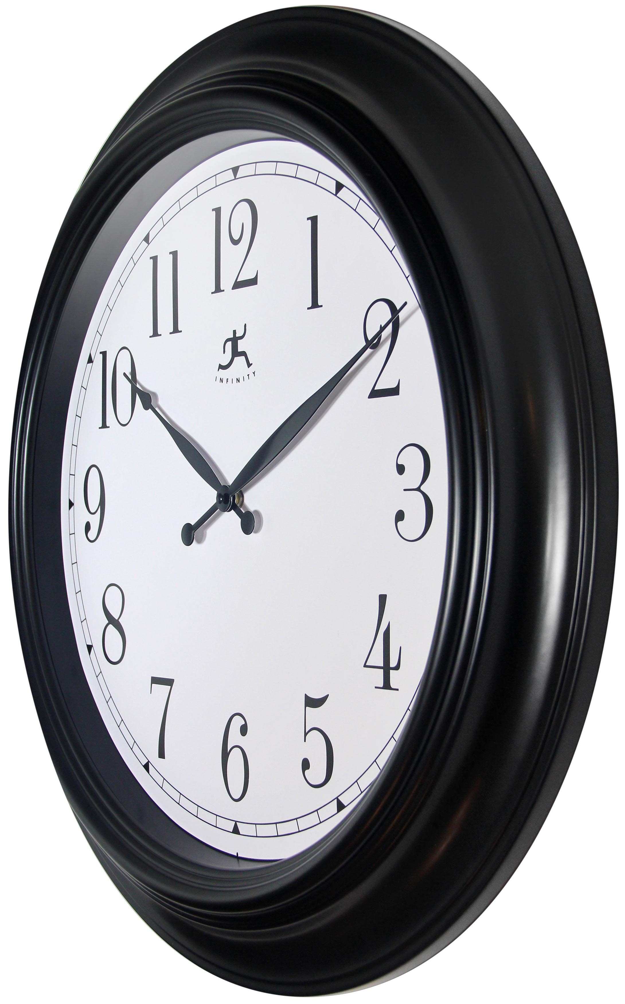 24 Inch Classic Black Plastic Wall Clock Clock By Room