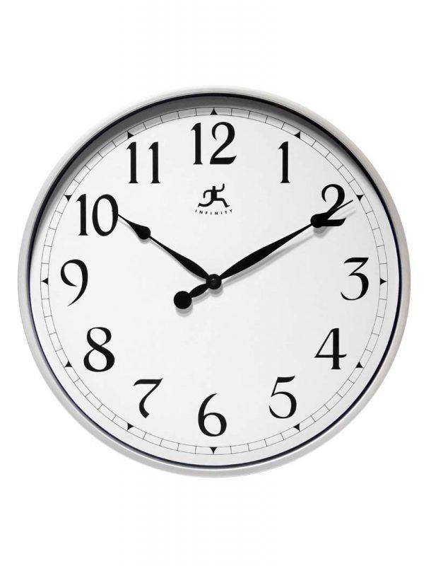 "18"" Silver Wall Clock"