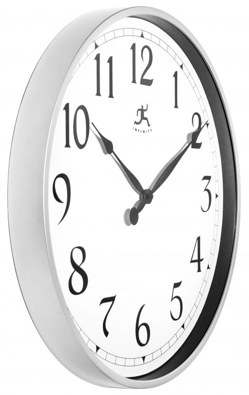 from right side silver office wall clock 18 inch