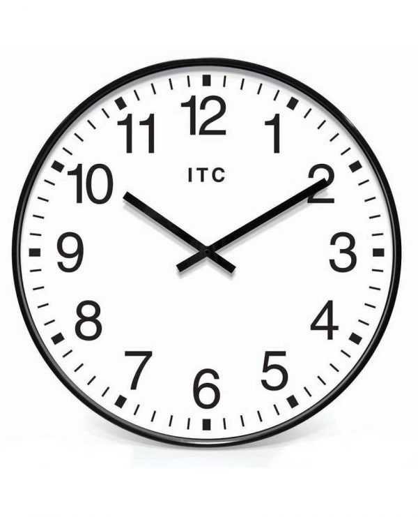 19.375 inch Profuse Black Resin Wall Clock