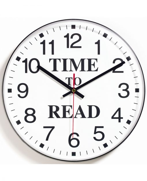 time to read clock library school