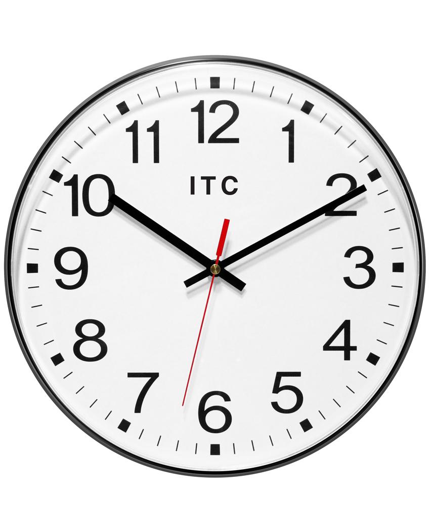 Prosaic Black Wall Clock