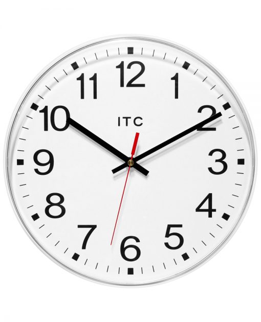 Prosaic White Wall Clock