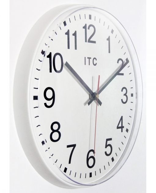 12 inch prosaic white wall clock easy to read clean simple