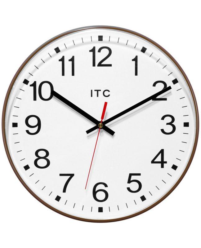Prosaic Brown Wall Clock
