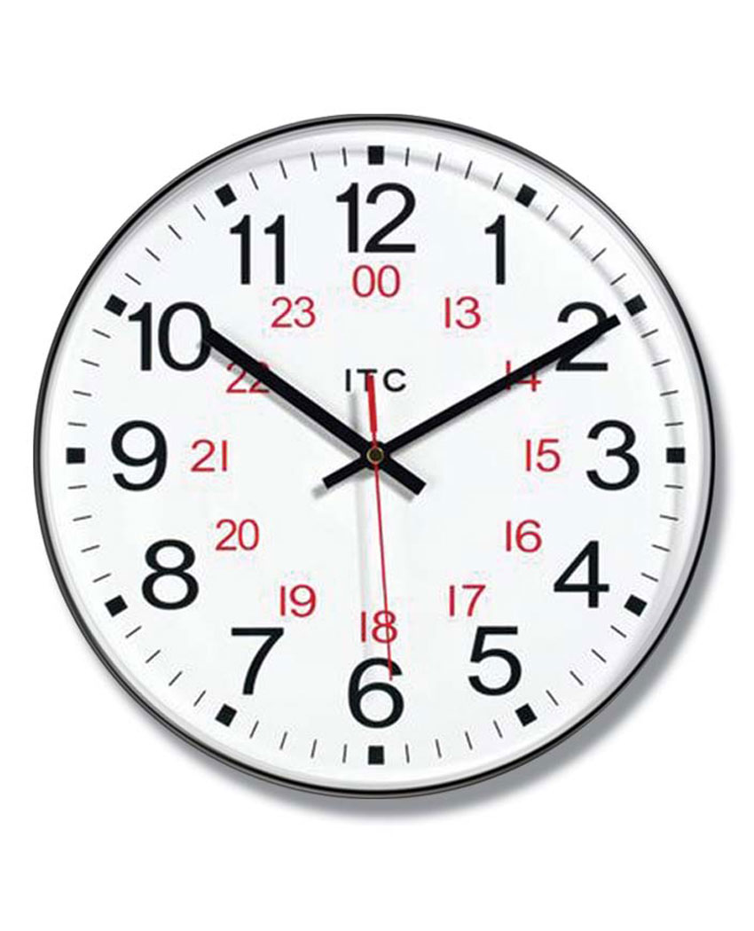 12 inch Prosaic 24; a Brown Resin Wall Clock
