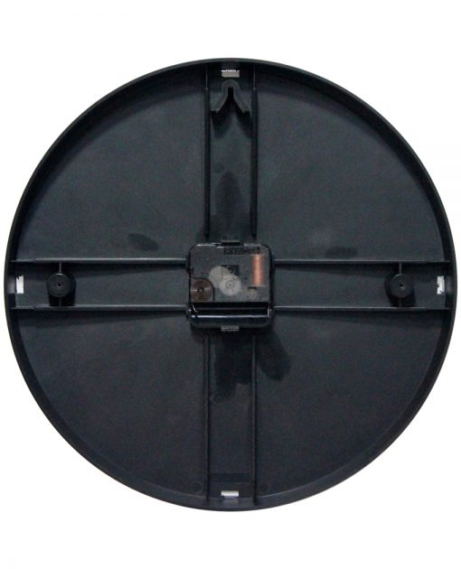 back of brown wall clock 12 inch