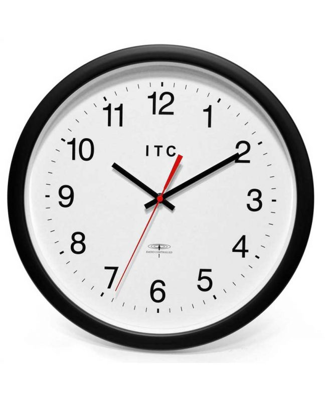 14 inch Time Keeper; a Brown Resin Wall Clock