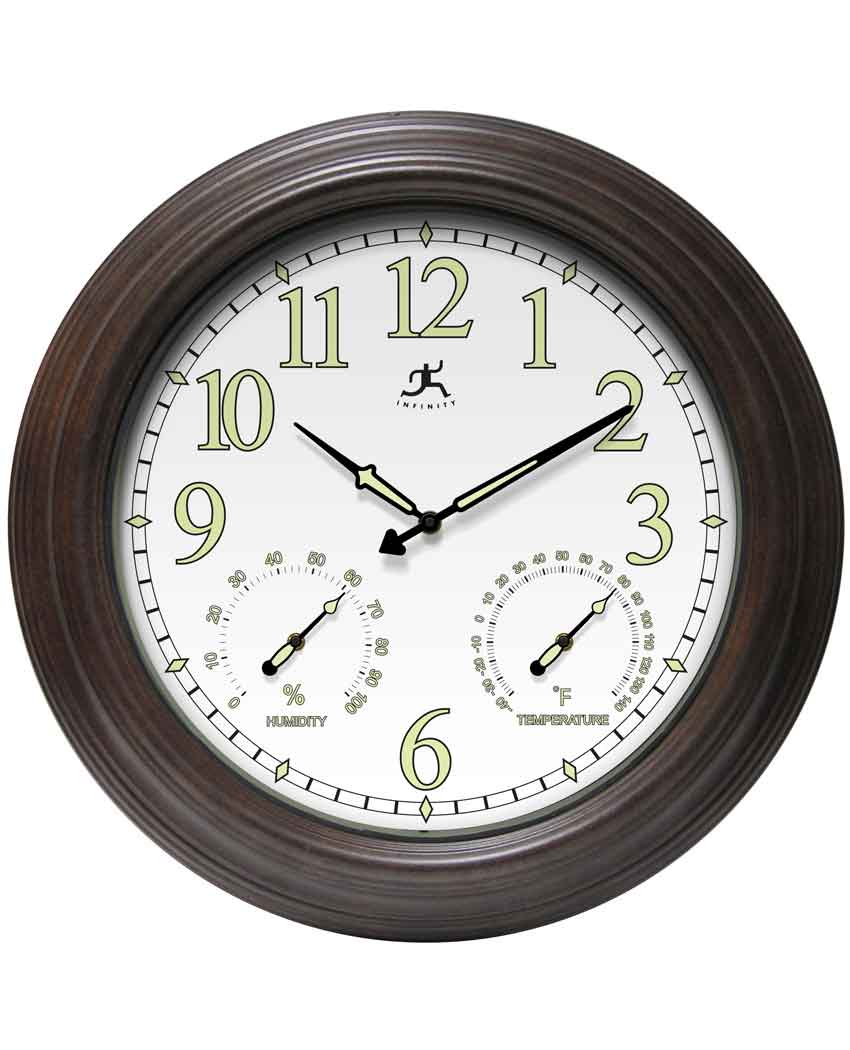 18.5 inch Radiant Reader Rustic Steel Wall Clock