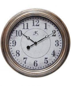 Round Aged Silver Wall Clock kitchen