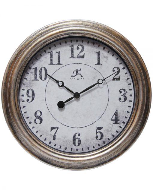 Round Aged Silver Wall Clock kitchen