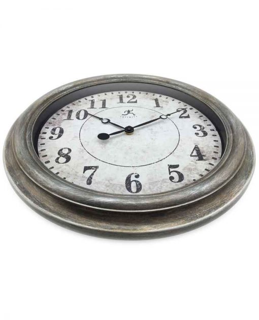 decorative aged silver wall clock