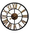 13.75 inch Micro Fusion; a Black Metal Wall Clock