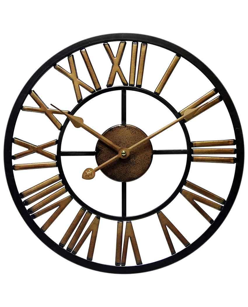 13.75 inch Micro Fusion; a Black Metal Wall Clock