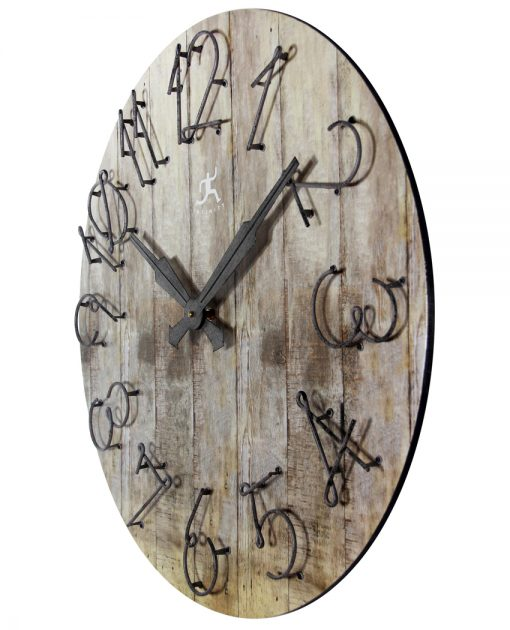 from left side wild west wall clock 24 inch