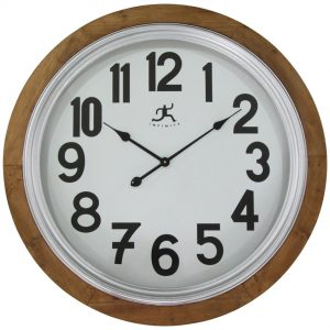 30.75 inch Timber; a Natural Wood Wall Clock