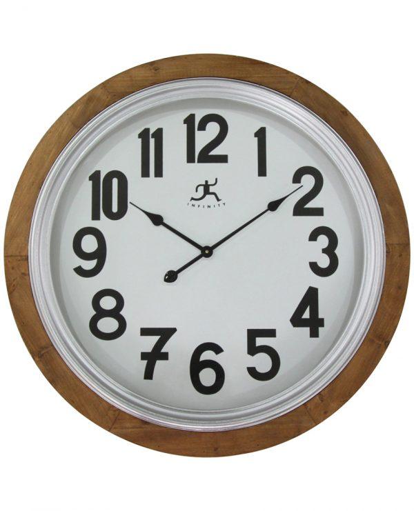 30.75 inch Timber; a Natural Wood Wall Clock