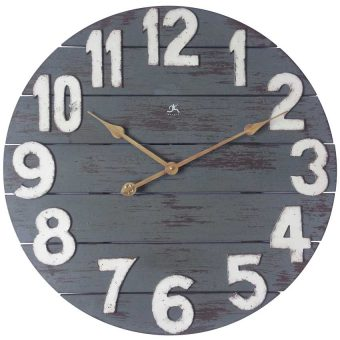 23.75 inch Tree House; a Blue Wood Wall Clock