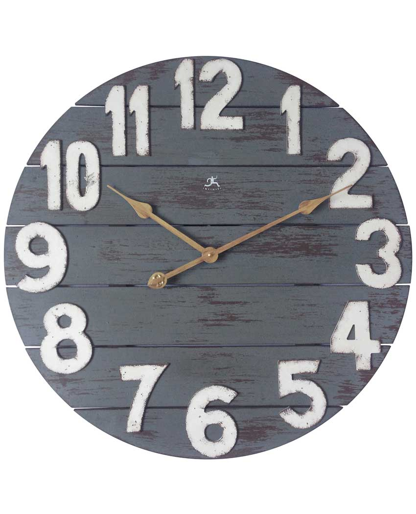 23.75 inch Tree House; a Blue Wood Wall Clock