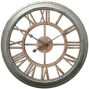 26 inch Ole Fashion Antique Zinc Wood Wall Clock