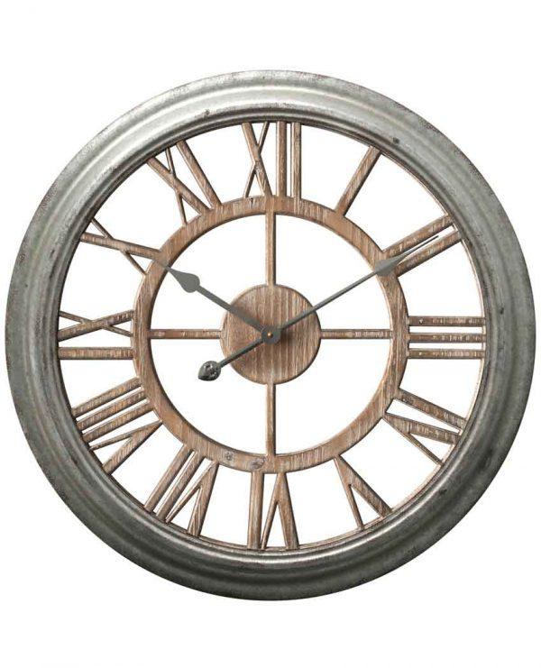26 inch Ole Fashion Antique Zinc Wood Wall Clock