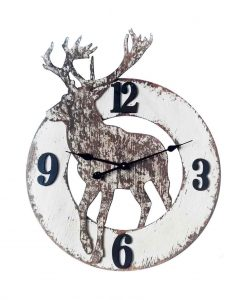 30 inch The Northern; a White Wood Wall Clock
