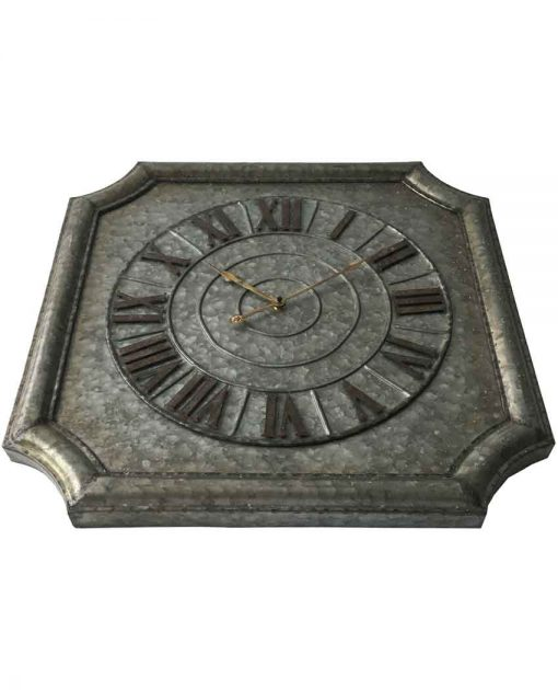decorative stamped metal wall clock