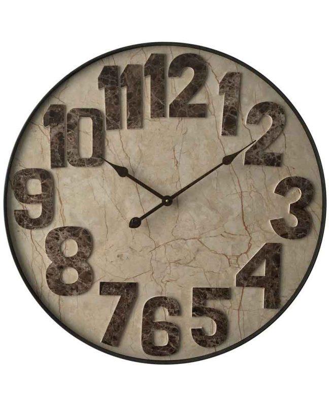 Marbled Mocha Clock